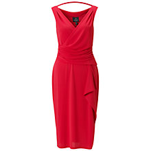 Buy Adrianna Papell Drape Front Dress, Red Online at johnlewis.com