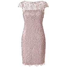 Buy Adrianna Papell Lace Dress, Buff Online at johnlewis.com