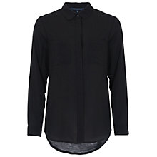 Buy French Connection Polly Plains Pocket Detail Shirt, Black Online at johnlewis.com