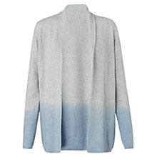 Buy Jigsaw Dip-dye Drape Cardigan, Blue Online at johnlewis.com