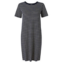 Buy Jigsaw Stripe Shift Dress, Navy Online at johnlewis.com