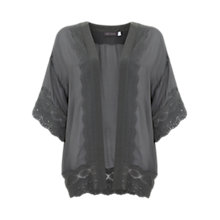 Buy Mint Velvet Lace Trim Kimono, Khaki Online at johnlewis.com
