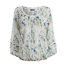 Buy Mint Velvet Mara Print Bubble Top, Multi Online at johnlewis.com