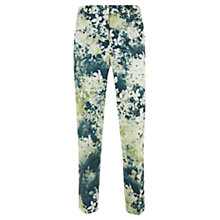 Buy Mint Velvet Ariel Print Stretch Capri Trousers, Green Online at johnlewis.com