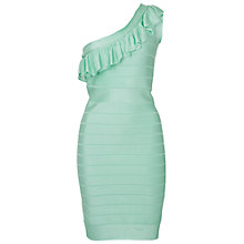 Buy French Connection Miami Spotlight Asymmetric Dress, Mint Mojito Online at johnlewis.com