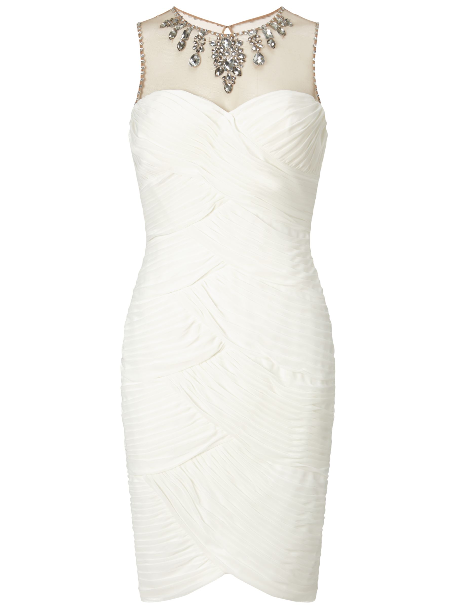 adrianna papell short shirred dress with beaded yoke ivory, adrianna, papell, short, shirred, dress, beaded, yoke, ivory, adrianna papell, 14 20 16 10 12 18 6 8, gifts, wedding, wedding clothing, wedding dresses, women, brands a-k, womens dresses, 1875576
