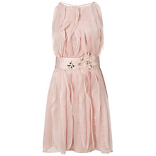 Buy Adrianna Papell Wedding Halter Cocktail Dress, Blush Online at johnlewis.com