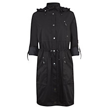 Buy Mint Velvet Longline Parka Jacket, Black Online at johnlewis.com