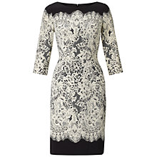 Buy Adrianna Papell Guipure Lace Dress, Black/Ecru Online at johnlewis.com