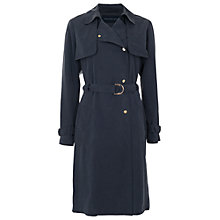 Buy French Connection Desert Twill Trench Coat, Blue Online at johnlewis.com