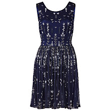 Buy Gina Bacconi Floral Beaded Skater Dress, Navy Online at johnlewis.com