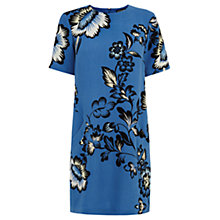 Buy Warehouse Pattern Nova Print Dress, Blue Pattern Online at johnlewis.com