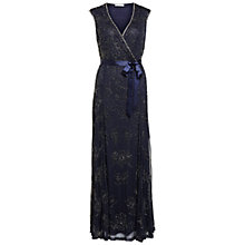 Buy Gina Bacconi Long Beaded Mesh Dress Online at johnlewis.com