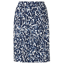 Buy Jigsaw Mirror Print Skirt, Navy Online at johnlewis.com