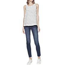 Buy French Connection Polly Plains Stripe Vest Top, Summer White / Navy Online at johnlewis.com