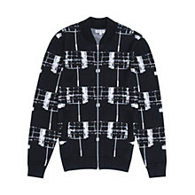 Buy Reiss Tear Contrast Knitted Jacket, Navy Online at johnlewis.com
