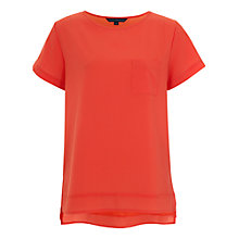Buy French Connection Polly Plains Pocket Top Online at johnlewis.com