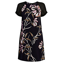 Buy Warehouse Floral Chiffon Sleeve Dress, Multi Online at johnlewis.com