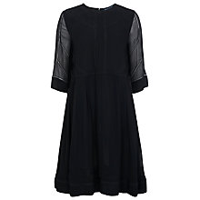 Buy French Connection Confetti Drape Dress, Black Online at johnlewis.com
