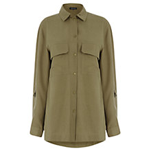 Buy Warehouse Casual Army Shirt Jacket, Khaki Online at johnlewis.com