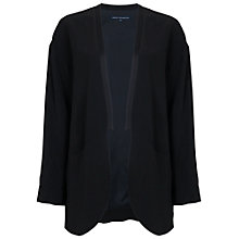 Buy French Connection Emma Crepe Coat, Black Online at johnlewis.com