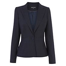 Buy Warehouse Pinstripe Jacket, Navy Online at johnlewis.com