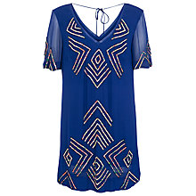 Buy French Connection Confetti Grid Sequin Dress, Monarch Blue Online at johnlewis.com
