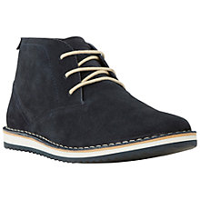 Buy Dune Cagoule Suede Lace-Up Boots, Navy Online at johnlewis.com