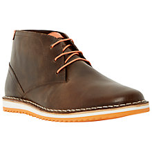 Buy Dune Cagoule Leather Lace-Up Boots, Brown Online at johnlewis.com