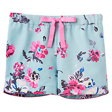 Buy Joules Rae Floral Pyjama Shorts, Blue Online at johnlewis.com
