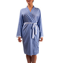 Buy Cyberjammies Melissa Print Wrap Robe, Blue Online at johnlewis.com