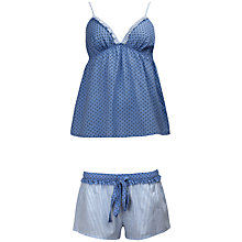 Buy Cyberjammies Melissa Cami & Shorts Set, Blue Online at johnlewis.com