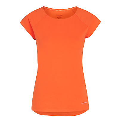 Calvin Klein Short Sleeve Top, Mango