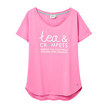 Buy Joules Sofia Pyjama Top, Pink Online at johnlewis.com