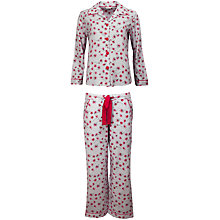 Buy Cyberjammies Flora Print Pyjama Set, Pink Online at johnlewis.com