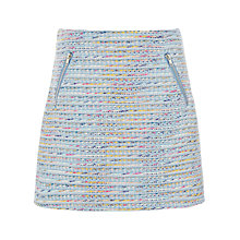 Buy Warehouse Ribbon Tweed Skirt, Blue Pattern Online at johnlewis.com