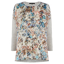 Buy Warehouse Floral Aztec Woven Top, Multi Online at johnlewis.com
