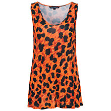 Buy French Connection Leo Leopard V Neck Top Online at johnlewis.com