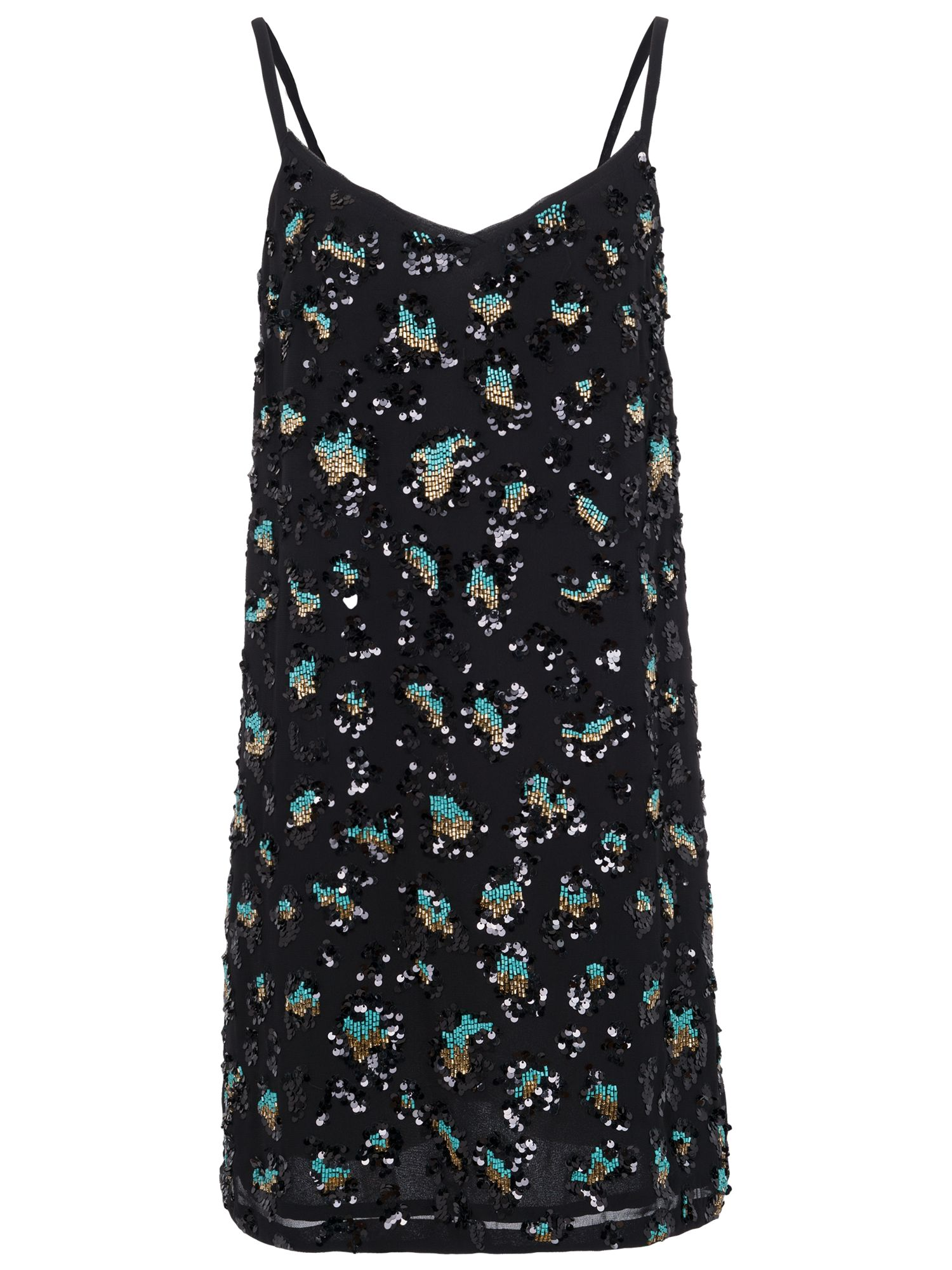 french connection sequin leopard tunic dress black/turquoise, french, connection, sequin, leopard, tunic, dress, black/turquoise, french connection, 12|6|16|8|14|10, women, womens dresses, 1923458