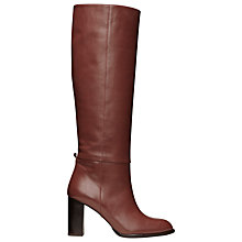 Buy Whistles Olea Leather Knee-High Boots, Brown Online at johnlewis.com