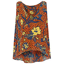 Buy French Connection Surf Island Sleeveless Silk Top, Calypso/Multi Online at johnlewis.com