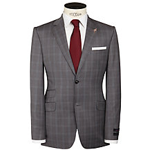 Buy Ted Baker Popeyj Stirling Check Suit Jacket, Mid Grey Online at johnlewis.com