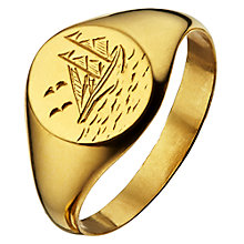 Buy Alex Monroe Ship At Sea Signet Ring, Gold Online at johnlewis.com