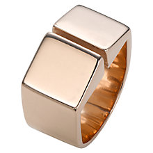 Buy Jessie Harris 18ct Rose Gold Sterling Silver Statement Ring, Rose Gold Online at johnlewis.com