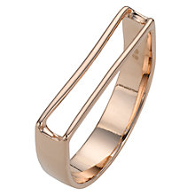 Buy Jessie Harris 18ct Rose Gold Sterling Silver U Shape Ring, Rose Gold Online at johnlewis.com