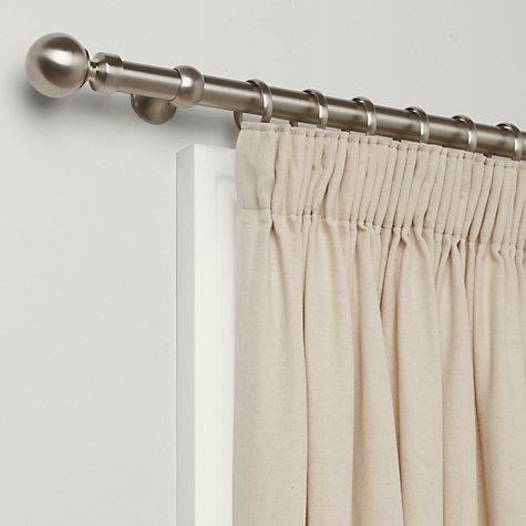 Buy John Lewis Brushed Steel Curtain Pole Kit Dia 25mm