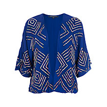 Buy French Connection Confetti Kimono Jacket, Monarch Blue Online at johnlewis.com