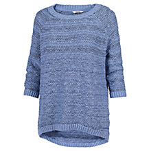 Buy Fat Face Textured Striped Jumper, Dark Chambray Online at johnlewis.com