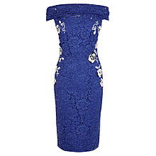 Buy Coast Justina Lace Dress, Blue Online at johnlewis.com