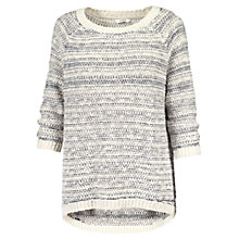 Buy Fat Face Textured Striped Jumper, Ivory Online at johnlewis.com